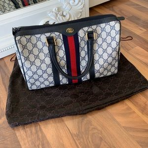 Vintage Gucci Accessory Collection Boston Handbag